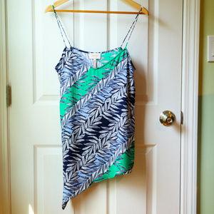Laundry Silky Asymmetrical Sleeveless Top